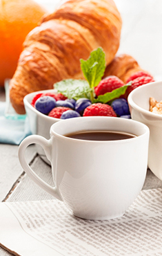 Buffet <br/>breakfast