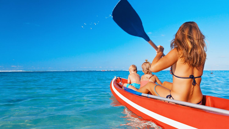 Deportes acuáticos en la manga del Mar Menor