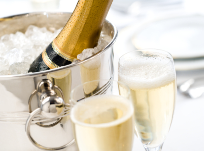 A BOTTLE OF CHAMPAGNE<br />