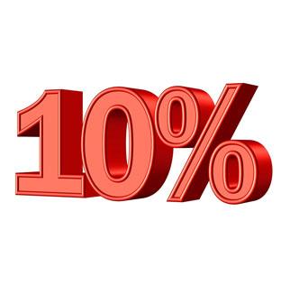 10% di sconto
