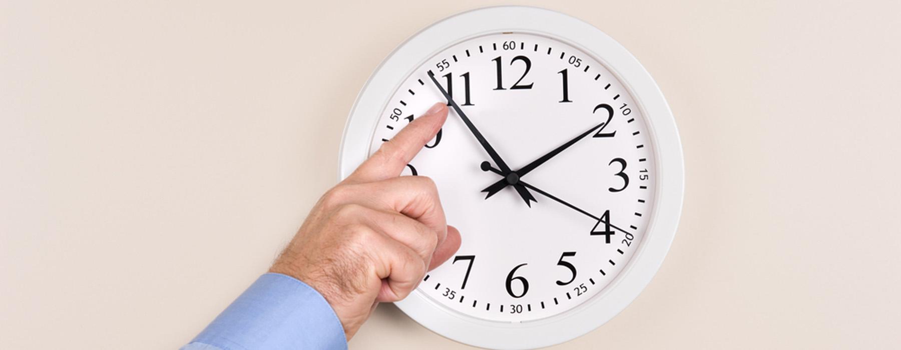 Salida sin prisas hasta las 15:00 o las 20:00 horas