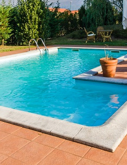 GARDEN AND<br> POOL