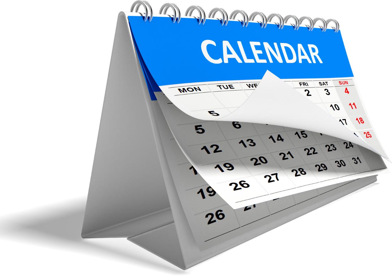 Bedevaart Kalender