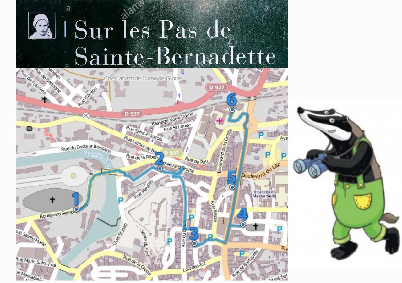 Chemin pédestre sur les pas de Bernadette